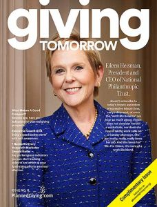 Eileen Heisman Cover Giving Tomorrow Magazine